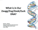 What Is in Our Zaugg/Zug/Zook/Zuck DNA? - Masthof Press