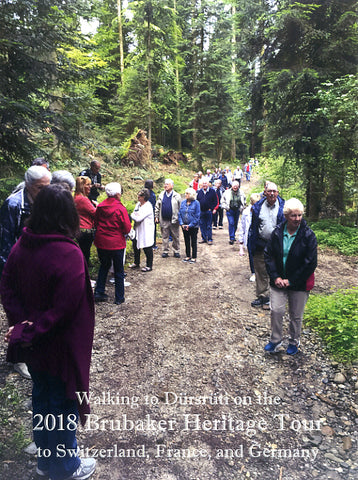 Walking to Dursruti on the 2018 Brubaker Heritage Tour to Switzerland, France, and Germany