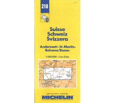 Switzerland: Andermatt/St. Moritz/Bolzano/Bozen Map - Masthof Bookstore