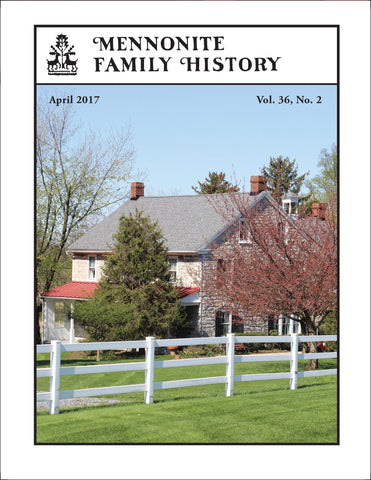 Mennonite Family History April 2017