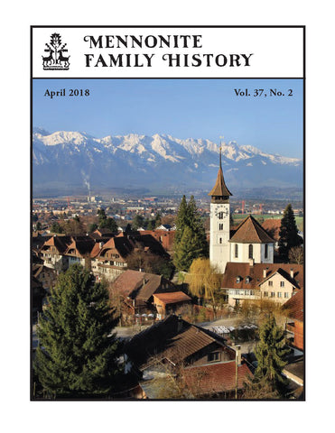 Mennonite Family History April 2018
