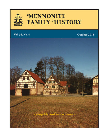 Mennonite Family History October 2015 - Masthof Press - 1