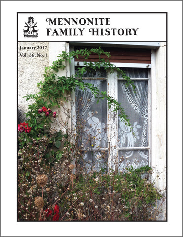 Mennonite Family History January 2017 - Masthof Press - 1