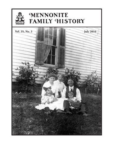 Mennonite Family History July 2016 - Masthof Press - 1