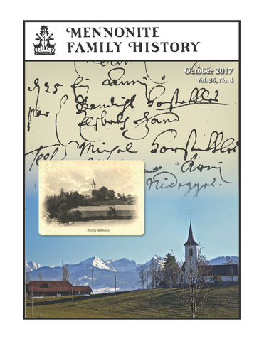 Mennonite Family History October 2017