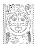 Pennsylvania Dutch Fraktur Coloring Book - Gerry Kershner - 2
