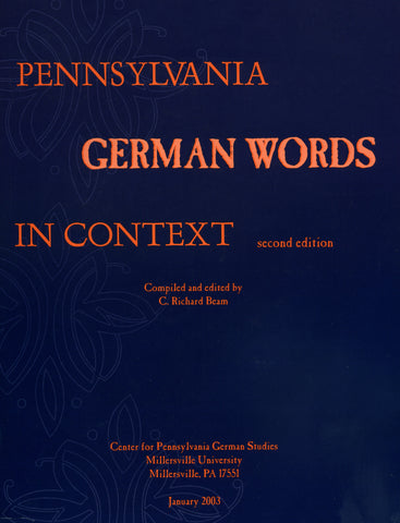 Pennsylvania German Words in Context (Hardcover) - C. Richard Beam