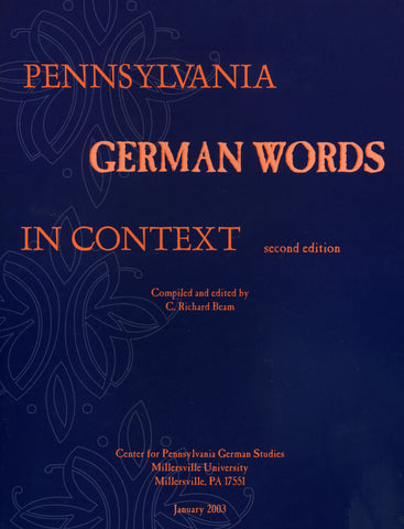 Pennsylvania German Words in Context - C. Richard Beam