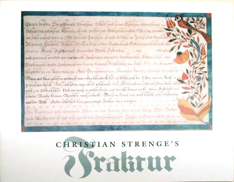 Christian Strenge's Fraktur - David R. Johnson