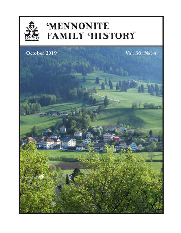 Mennonite Family History October 2019