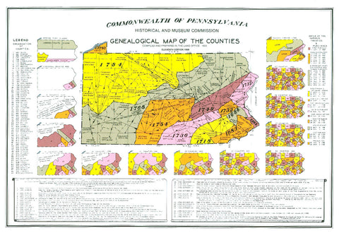 Genealogical Map of the Counties - Pennsylvania Historical Museum Commission