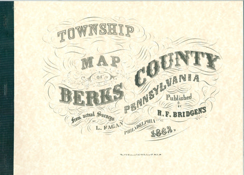 Township Map of Berks County, Pennsylvania, 1862