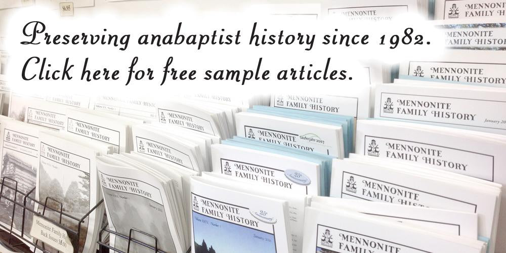 amish brethren mennonite anabaptist genealogy