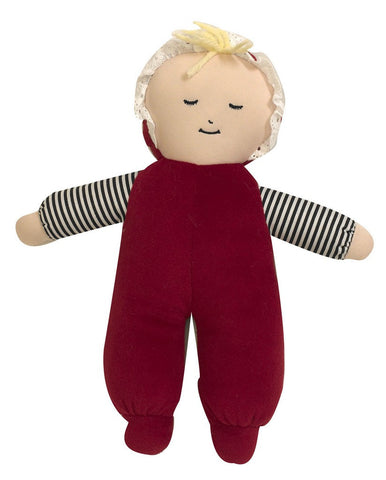 Baby's First Doll Caucasian Girl in Poly Bag - Children's Soft Play