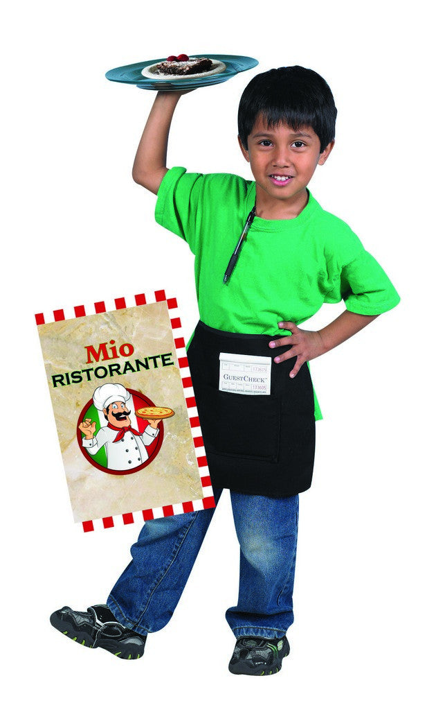 Children's Factory Waiter/Waitress Apron with Order Book and 1 Menu