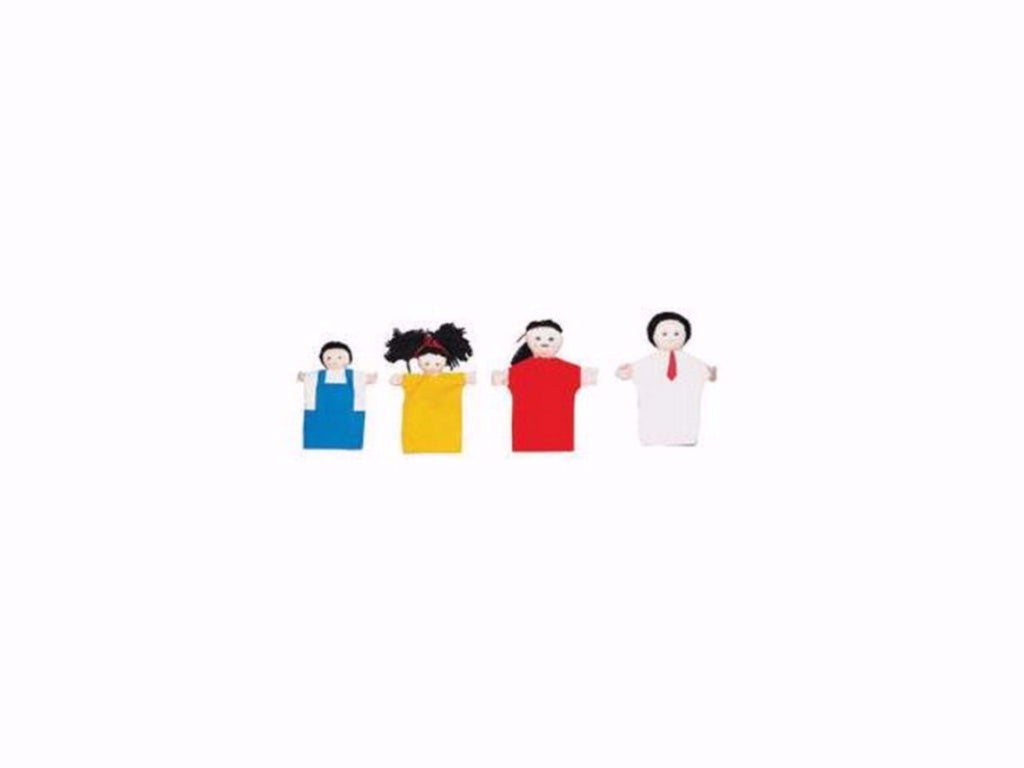 Children's Factory Asian Hand Puppet Family