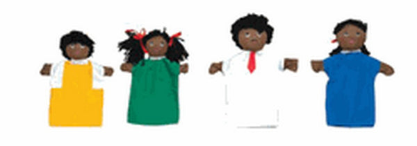 Children's Factory African American Hand Puppet Family