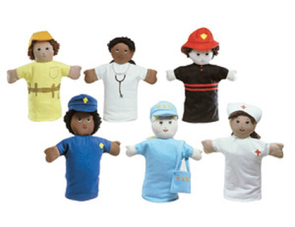 "Children's Factory 9"" Career Hand Puppets - Set of 6"