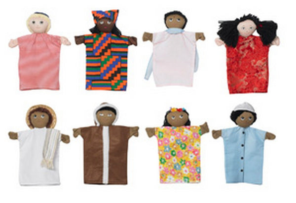 "Children's Factory Multi-Cultural 9"" Hand Puppets"