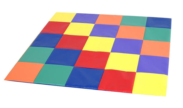Children's Factory Patchwork Crawly Mat - Primary