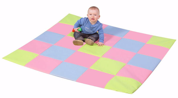 Children's Factory Patchwork Crawly Mat - Pastel