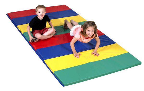 Children's Factory Rainbow Folding  Mat  4' x 8' x 1.5""