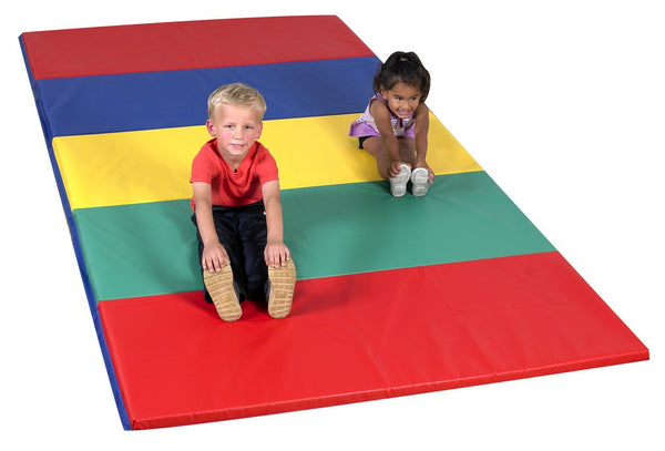 Children's Factory Rainbow Folding  Mat  5' x 10' x 1.5""