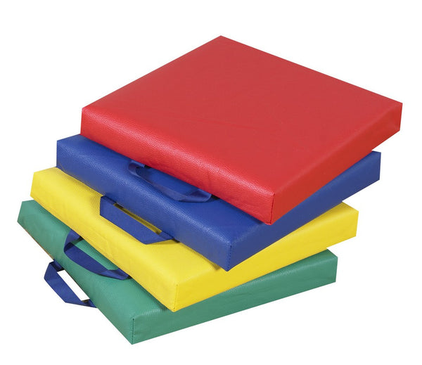 "Children's Factory 15"" Primary Square Cushions - Set of 4"
