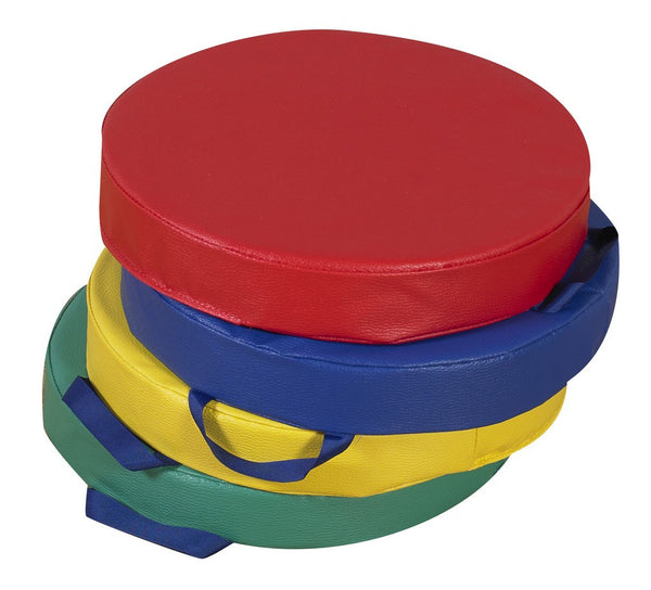"Children's Factory 15"" Primary Round Cushions - Set of 4"