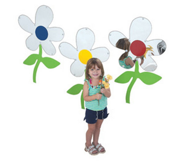 Children's Factory Set of 3 Flower Mirrors