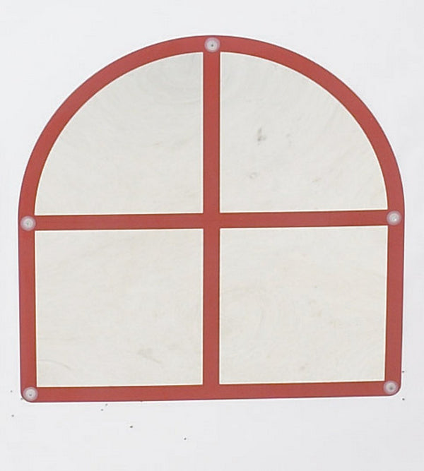 Arched Windowpane Mirror