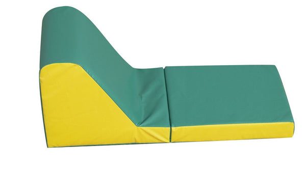Children's Factory Cozy Time Lounger - Green/Yellow