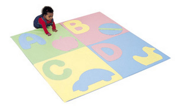 "Children's Factory ABC Crawly Mat - Pastel 60"" Square"