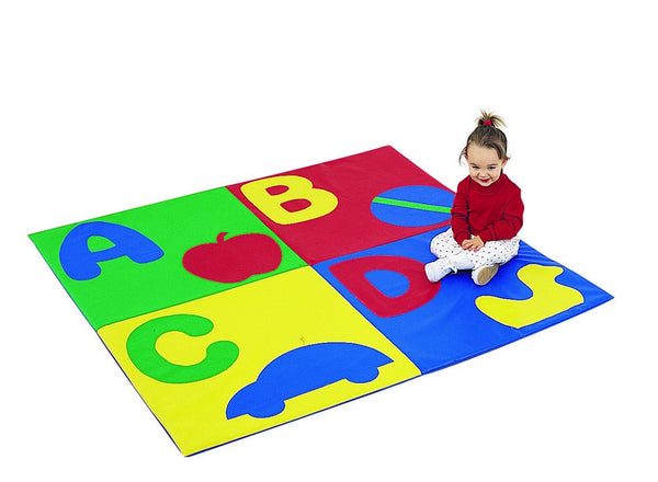 "ABC Crawly Mat - Primary 60"" Square"