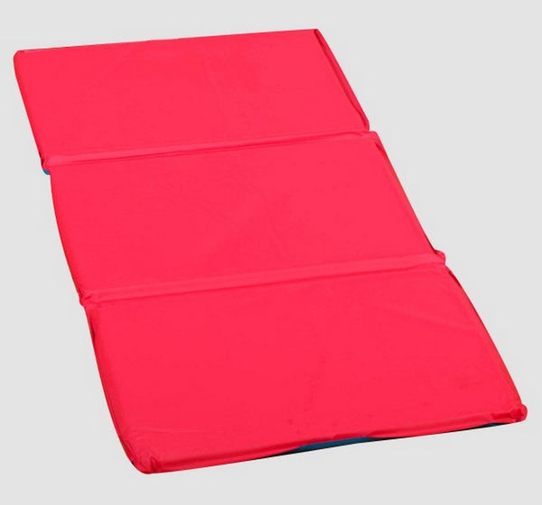 "2"" Infection Control® Folding Rest Mat - Red/Blue 5 Pack"