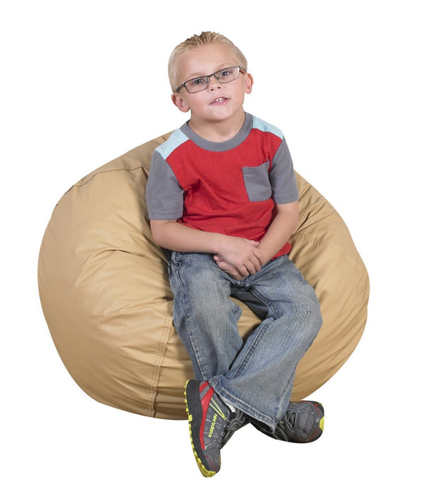 "26"" Foam Filled Bean Bag - Almond"