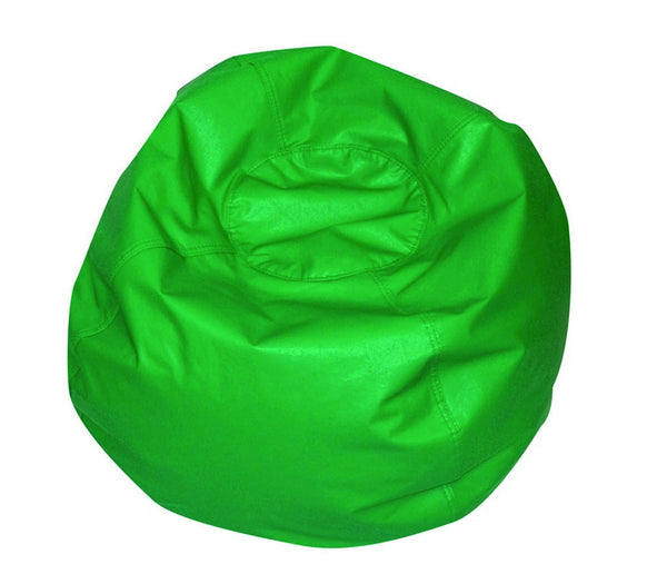 "35"" Round Bean Bag - Green - Children's Soft Play"