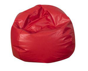 "35"" Round Bean Bag - Red - Children's Soft Play"
