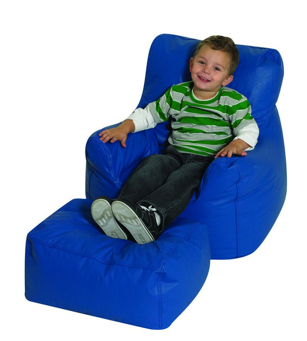 Cozy Chair and Ottoman - Blue