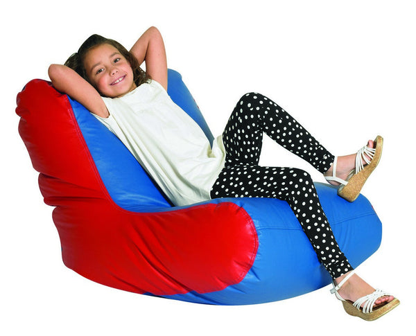 School Age High Back Lounger - Blue and Red