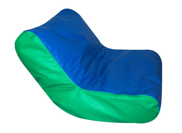 School Age High Back Lounger - Blue/Green