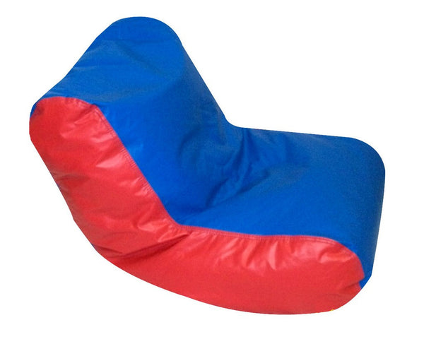Preschool High Back Lounger - Blue/Red