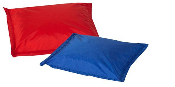 Children's Factory Indoor/Outdoor Pillows - Set of 2 - Red and Blue