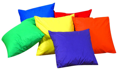 "12"" Mini Throw Pillows - Set of 6 w/polyfill - Children's Soft Play"