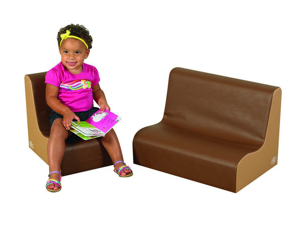 Children's Factory Little Tot Contour Seating Set - Walnut