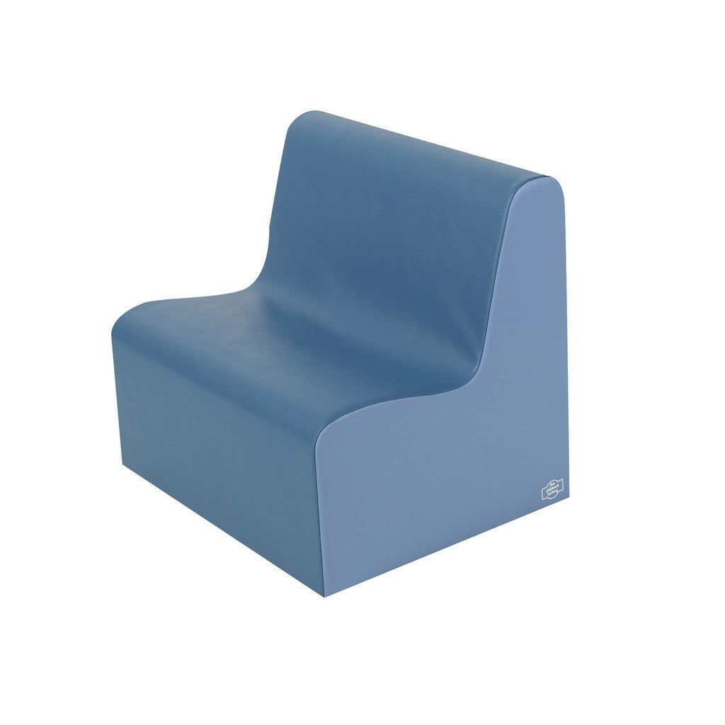 Children's Factory Medium Tot Contour Love Seat - Deep Water/Sky Blue