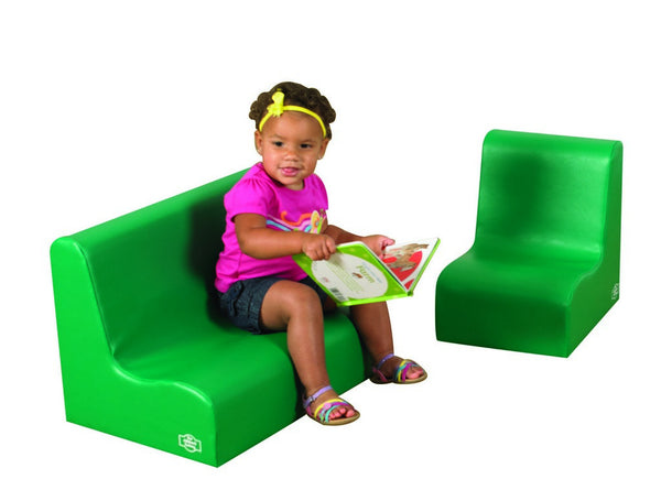 Children's Factory Little Tot Contour Seating Set - Green 2 Piece