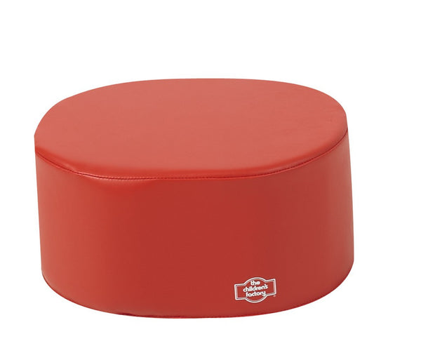 Children's Factory School Age Ottoman - Red