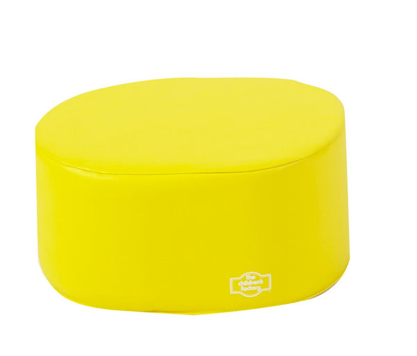 Children's Factory School Age Ottoman - Yellow