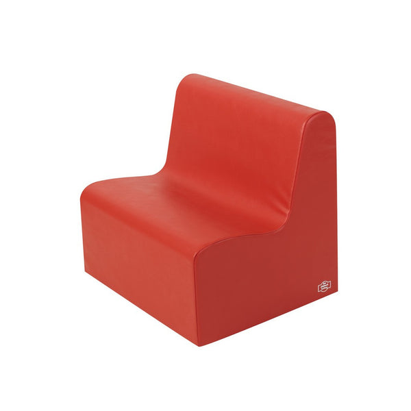 Children's Factory School Age Contour Love Seat - Red